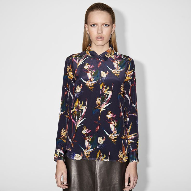 FWSS Mercury Mary is a soft silk shirt with a clean finish. Hidden front-button placket, long sleeves with two-button cuffs for adjustable fit.  http://fallwinterspringsummer.com/