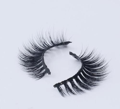 $4.18  Pure Hand Made Mink Material False Eyelash Strip, Thick Curl Cross Eyelashes, Soft Silk Reusable Eye Lash Permanent Eyelash Kit BK1