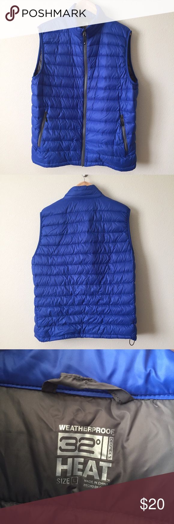 Puffer Down Vest >Puffer down vest >Blue >Size L >EUC: Excellent Used Condition >90% down fill >Drawstring waist for fit >Zippered pockets  🚭Smoke free house. 🐶Pet free house. 🚫No trades.  Make me an offer I can't refuse! 💋 BUNDLE to save on shipping! 📦 Jackets & Coats Vests