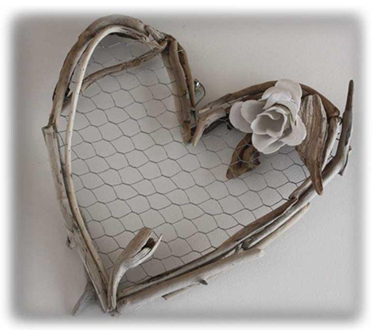 coeur en bois flotté NATYDECO http://www.natydecocorse.com