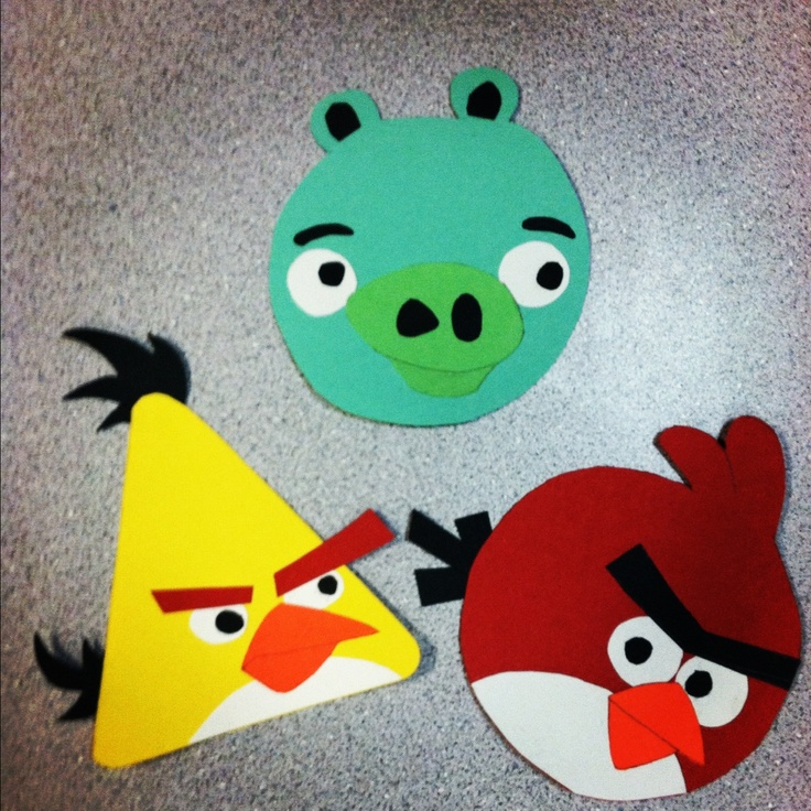 arts and crafts ideas with construction paper angry birds construction paper arts 7979