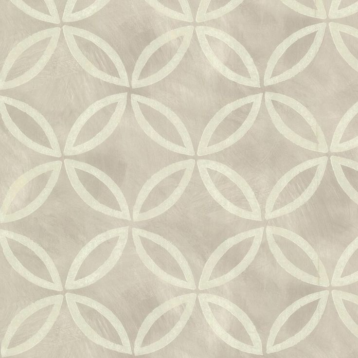 Brewster Grey Cloverleaf Geometric Wallpaper Sample