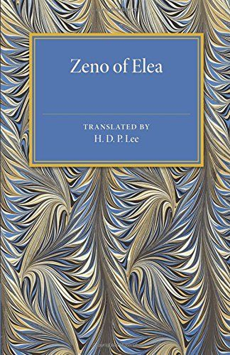 Zeno of Elea: A Text, with Translation and Notes ...Originally published in 1936, this book presents the ancient Greek text of the paraphrases and quotations of Zeno's philosophical arguments, together with a facing-page English translation and editorial commentary. Detailed notes are incorporated throughout and a bibliography is also included. This book will be of value to anyone with an interest in Zeno and ancient philosophy.