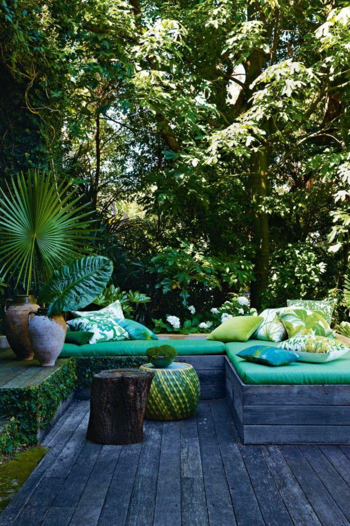 amenagement terrasse exterieur et meubles d'extérieur modernes