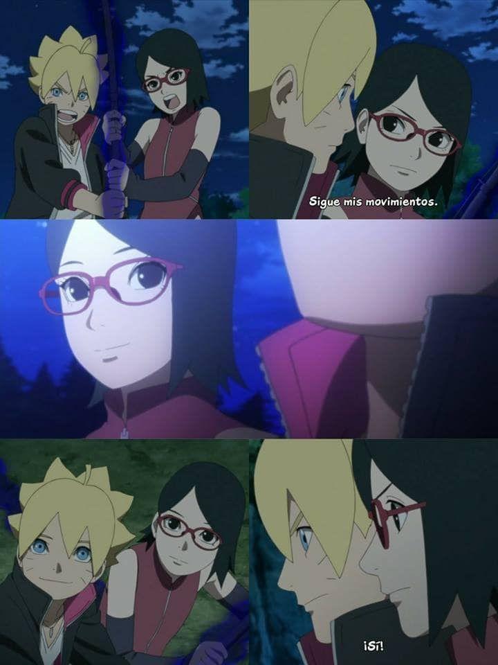 Gambar Ditemukan Oleh Lulee Temukan Dan Simpan Gambar Dan Videomu Di We Heart It Boruto And Sarada Anime Wallpaper Naruto Shippuden