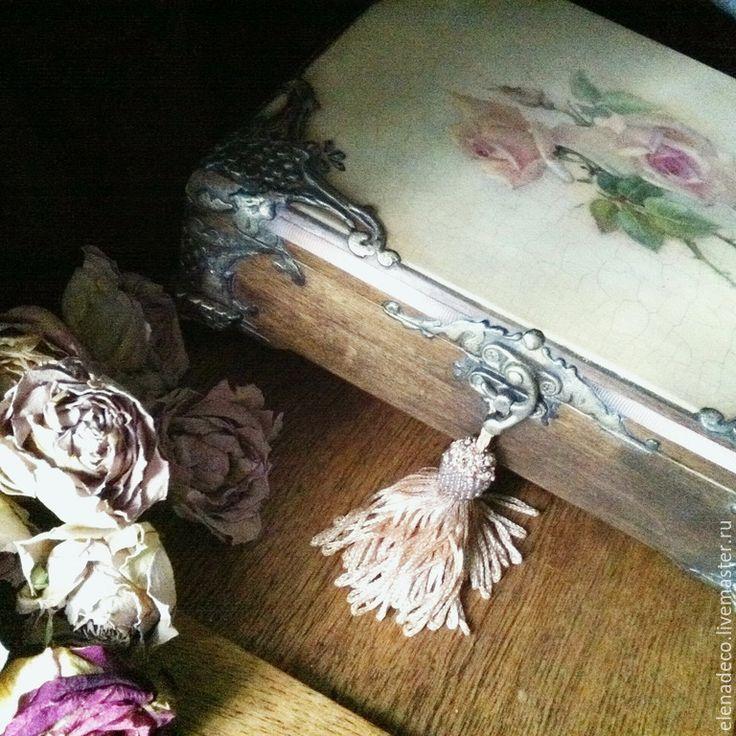 """Купить """"Beatrice"""" Шкатулка. - разноцветный, шкатулка, розы, шкатулка для украшений, винтажный стиль, именной подарок"""