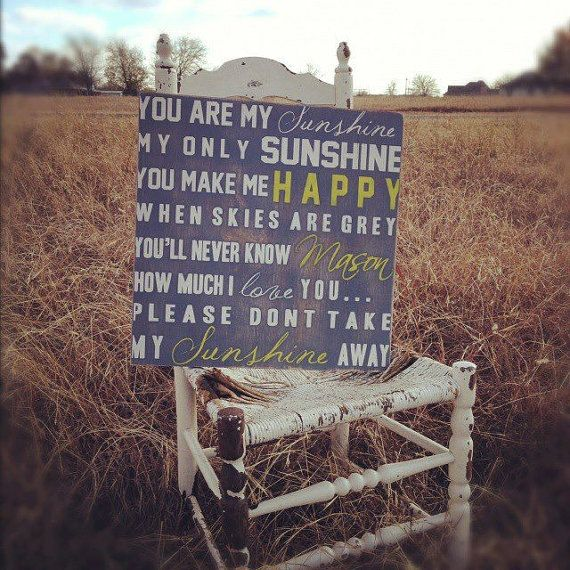 You Are My Sunshine Sign Wall Art on Wood or by MadiKayDesigns, $44.99