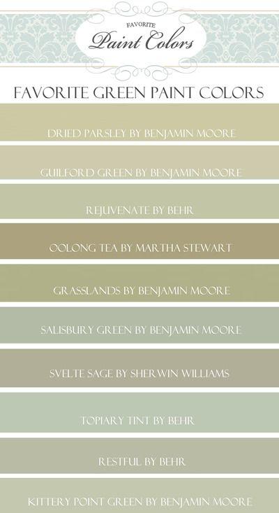 My Favorite Green Paint Colors | Favorite Paint Colors Blog