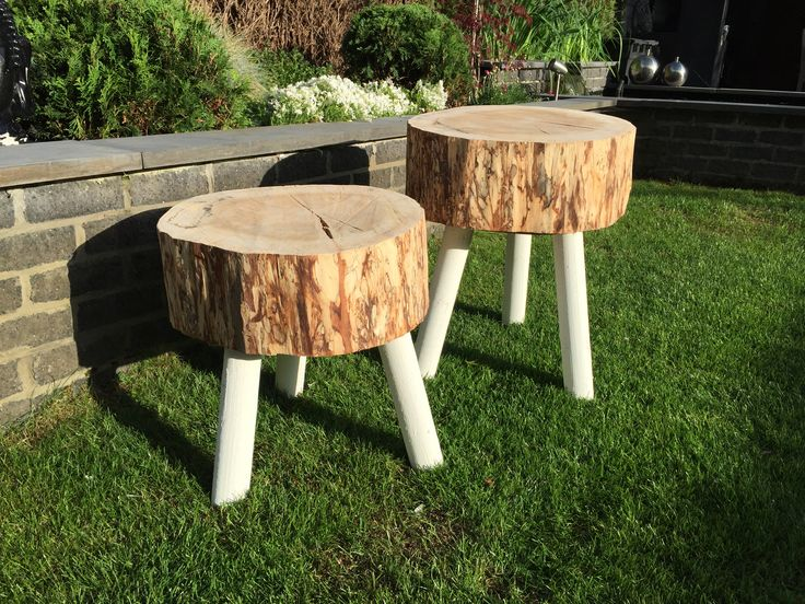 In love with those hand made wooden side tables #woodbyberry
