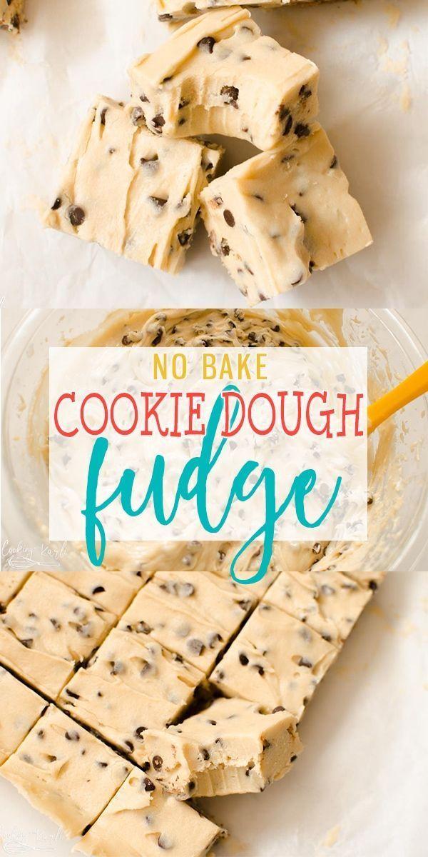 Cookie Dough Fudge ist eine Mischung aus Schokoladenkeksteig und ...