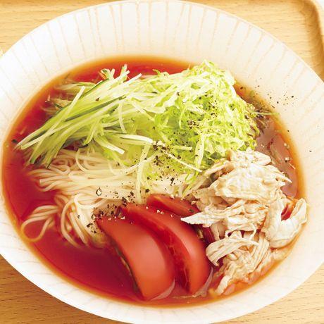 トマトそうめん | 村田明彦さんのそうめん・ひやむぎの料理レシピ | プロの簡単料理レシピはレタスクラブネット