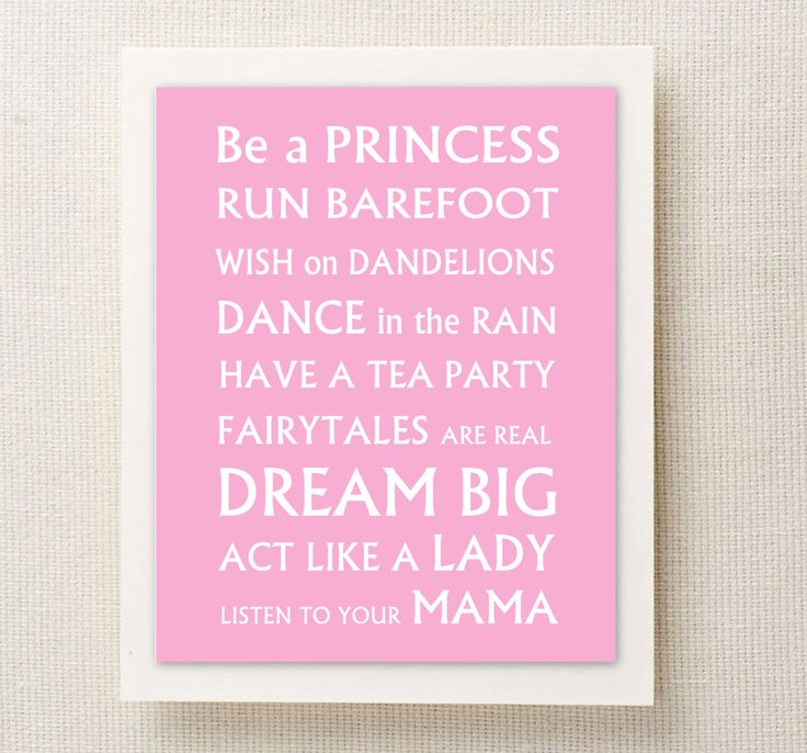 TEA PARTY - Wall Art - Toddler Baby Girl Rules   $4.95 - Etsy.