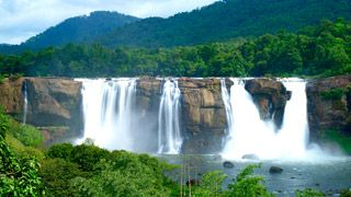 Athirapally falls in Thrissur