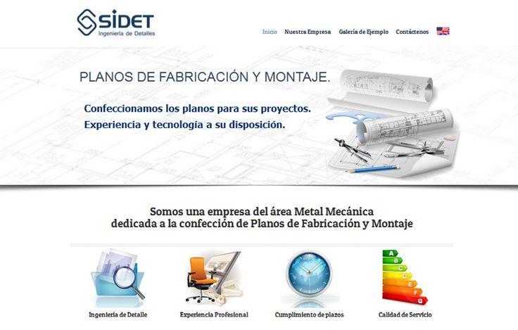 Sitio web www.sidet.cl para nuestro cliente Sidet Ltda. Versión 2015.