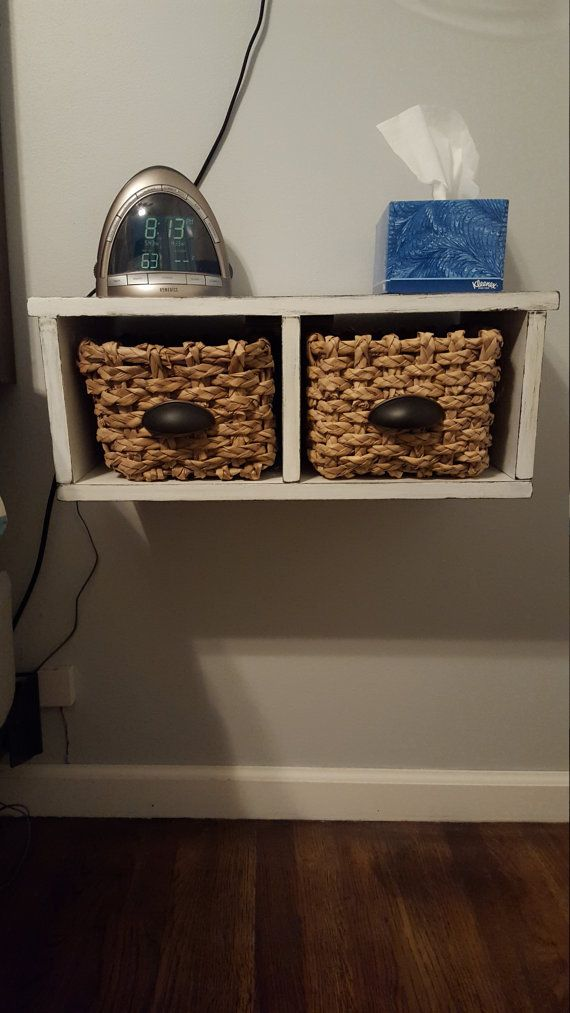 Floating Nightstand With Baskets By TastefulHomemaker On Etsy. Floating  NightstandNightstand IdeasSmall NightstandSmall Bedroom ...