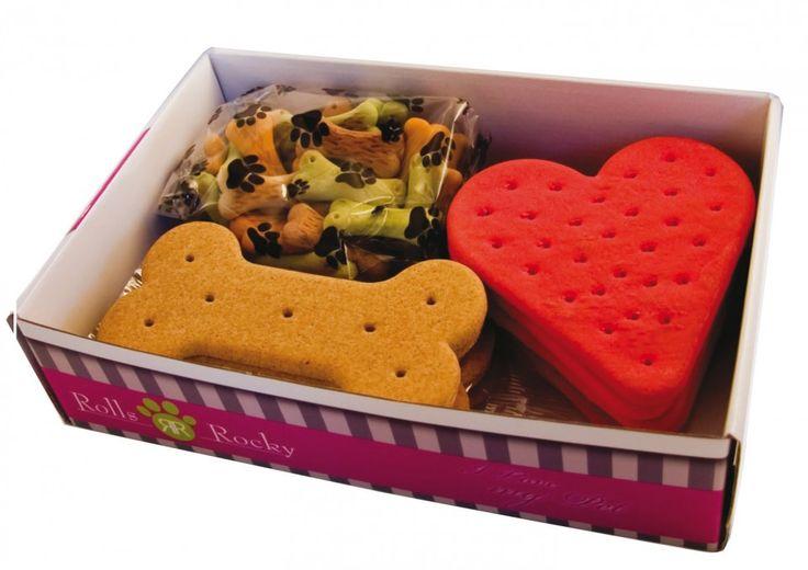 Vrei, de Craciun, sa-i faci un cadou catelusului tau? Ia-i cei mai simpatici biscuiti!