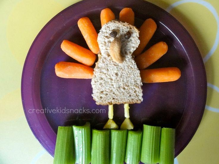 Turkey snack...so cute! From Creative Kid Snacks.