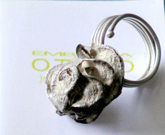 Anello in argento Semi di EmblemaOpificio su Etsy