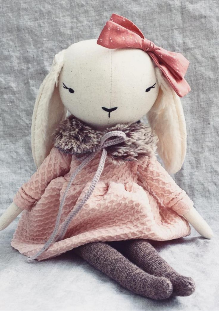 Handmade Linen Bunny by lespetitesmainss on Etsy