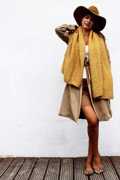 Chunky Honey Scarf from Alexandra Milcarz by DaWanda.com