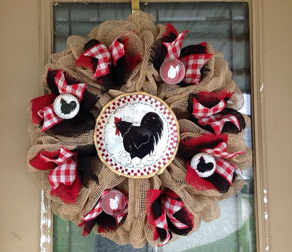 17 Best Ideas About Black Flower Crown On Pinterest: 29 Best Rooster Wreaths Images On Pinterest