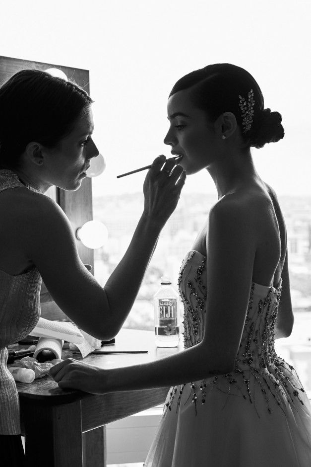 Sofia Carson Getting Ready for the 2017 Oscar Awards: The star viewed her hosting gig as a once-in-a-lifetime opportunity, so why not make the most of it? | Coveteur.com