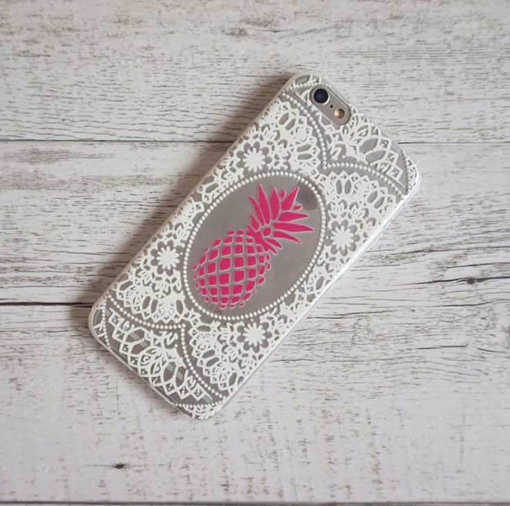 Pineapple Henna Paisley Soft TPU Mobile Phone Case for iPhone