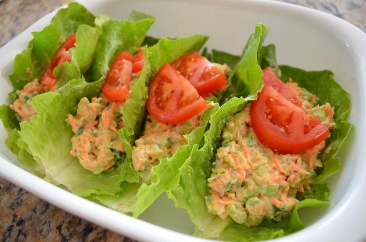 ... Survivor's Guide Cookbook recipe: Chickpea Salad Romaine Lettuce Wraps