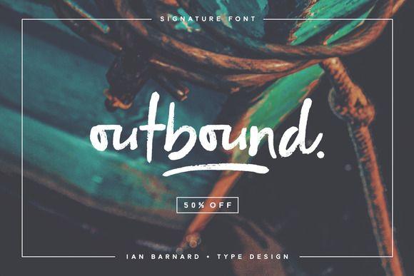 Outbound - Signature Font • Available here → https://creativemarket.com/ianbarnard/796561-Outbound-Signature-Font?u=pxcr