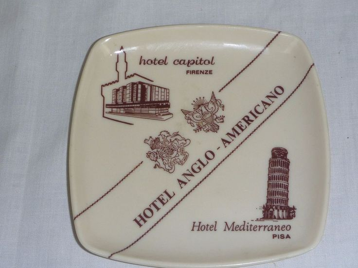Vtg Melamine Webel Italy Hotel Tray Anglo Americano Hotel Capitol Mediterraneo