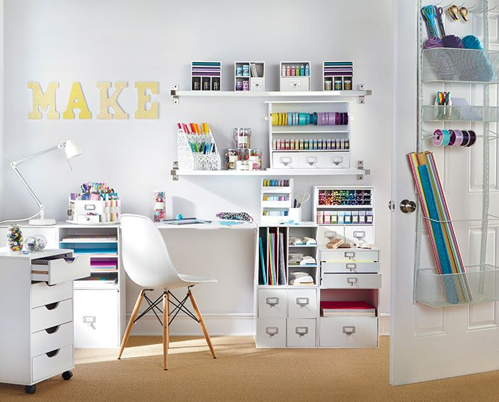 Storage For Craft Room: Recollections Craft Room Storage Products