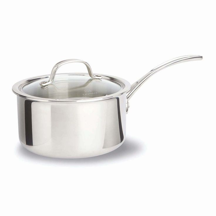 Calphalon Tri-Ply Stainless Steel 2.5-qt. Covered Saucepan, Grey