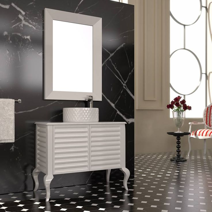 """ LA ROMANZA"" BATHROOM FURNITURE,home,new,interior design,accesories,set,new,style,bath,tiles,product,idea,decoration,woman,mirror,porcelain,επιπλο μπανιου,μπανιο,νιπτηρας,καθρεπτης,πλακακια,modern,classic,rombo,black,white"