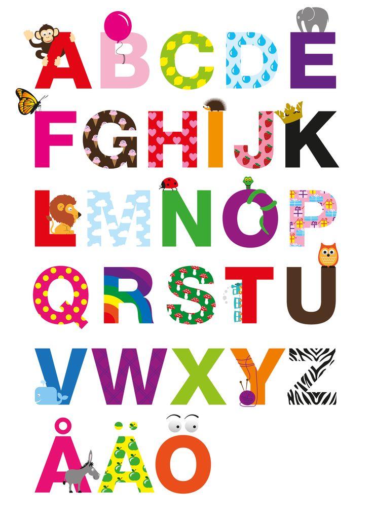alphabet poster kids