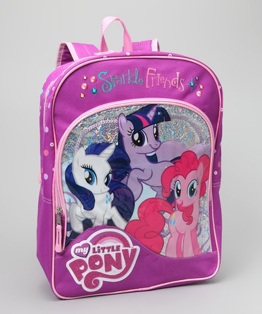 Take a look at this Purple My Little Pony 'Sparkle Friends' Backpack by Hasbro on #zulily today!