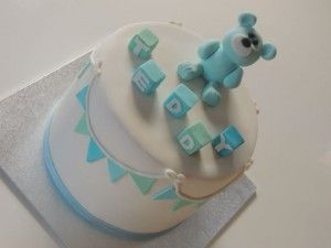 Once Upon A Pie | Teddy Bear and Bunting Cake