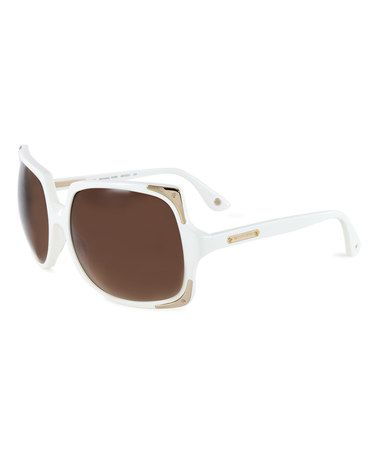 White & Brown Gradient Oversize Sunglasses #zulily #zulilyfinds