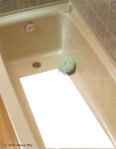 "Safe Way Traction 16"" X 34"" White Adhesive Vinyl Anti Slip Non Skid Safety Bath Mat Safe Way Traction http://www.amazon.com/dp/B006OB27PA/ref=cm_sw_r_pi_dp_a2Qswb159J6DP"