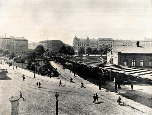 Vintage Berlin Wassertorplatz in Kreuzberg Construction works on the first subway line of