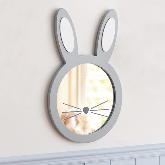 Create a luxurious and unique decoration for the kids' room using the most unique mirrors.
