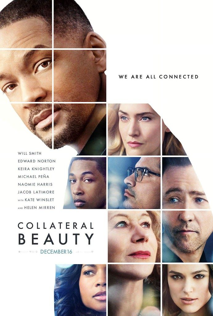 COLLATERAL BEAUTY. Compelling film - so moving. Brilliantly directed and cast (still don't get Kiera Knightley though, tbh).
