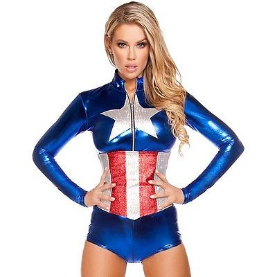 Ladies the #avengers #captain #america fancy dress womens superhero costume 8 -1, View more on the LINK: http://www.zeppy.io/product/gb/2/301845429754/