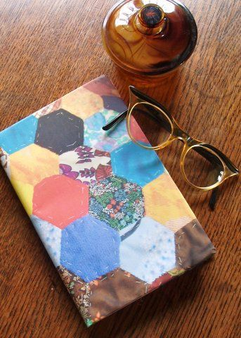 Cheap, chic and incredibly cute. Today's thrifty make is the brainwave of Mary Jane Baxter, author of Chic on a Shoestring. With the help of a colour photocopier and a piece of her hand-stitched patchwork, Mary's created this crafty notebook cover...