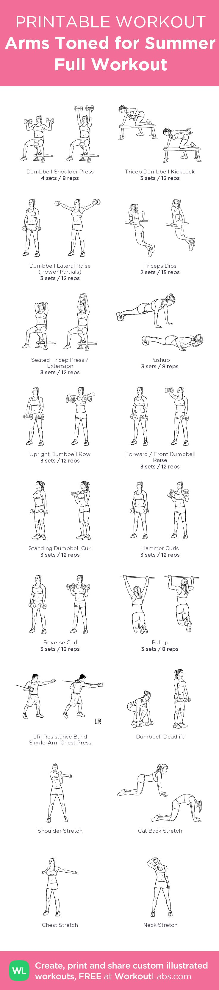 With 6 Triceps shoulders workouts, followed by 6 Biceps Back workouts, this makes a full upper body workout routines, at home or at the Gym ! my custom printable workout by @WorkoutLabs #workoutlabs #customworkout