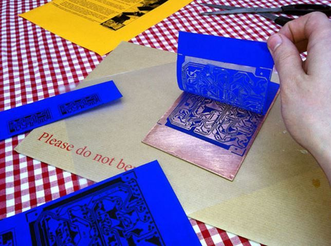Etching PCBs at home? Here are a few tips http://www.instructables.com/id/Etching-PCBs-with-PressnPeel/