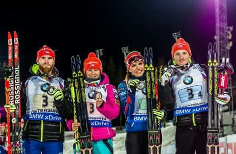 Mixed relay third in Ostersund :* good start to the new season     #ceskybiatlon