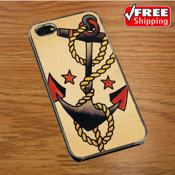Anchor Tattoo Style Sailor Pirate IPHONE 4 | 4S COVER CASE