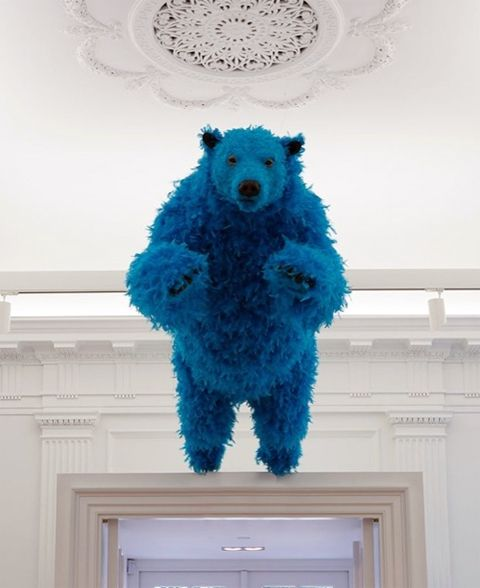 Paola Pivi blue bear instalation