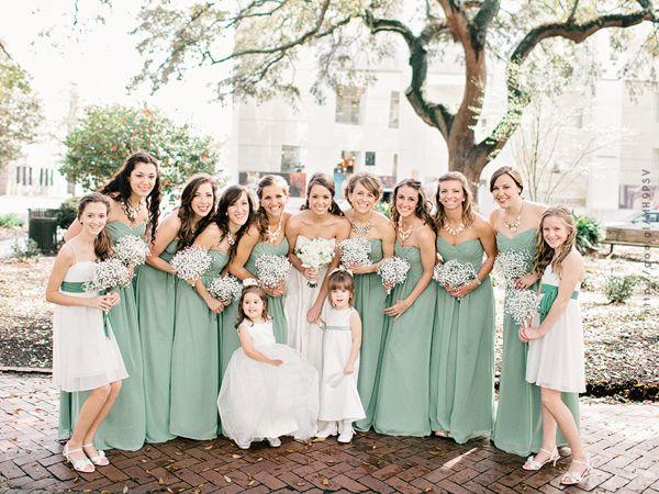 Damas de honor en color #hemlock #Bridesmaids #dress #Wedding #YUCATANLOVE
