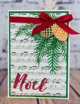 Stampin' Up! UK Feeling Crafty - Bekka Prideaux Stampin' Up! UK Independent Demonstrator: Christmas Pines Christmas Card